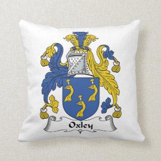 Escudo de la familia de Oxley Cojín