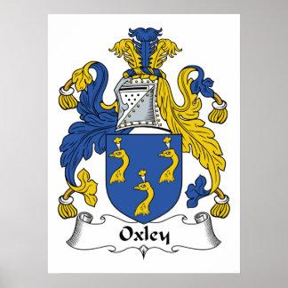Escudo de la familia de Oxley Póster