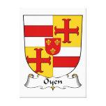 Escudo de la familia de Oyen Impresion En Lona