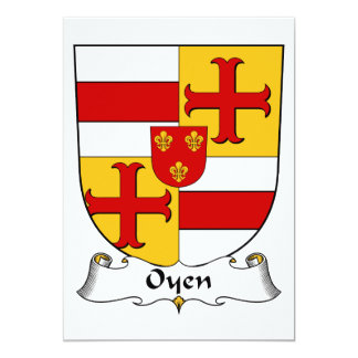 """Escudo de la familia de Oyen Invitación 5"""" X 7"""""""