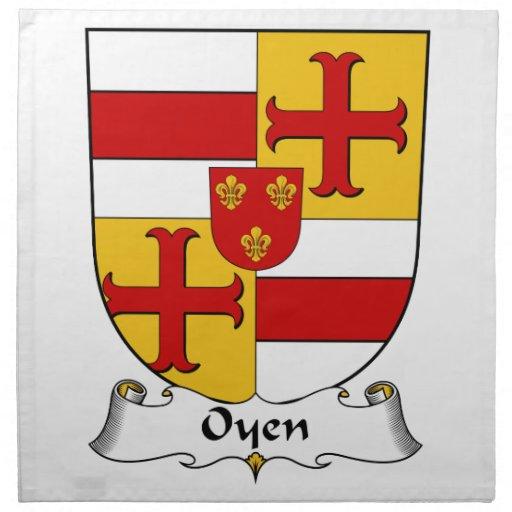 Escudo de la familia de Oyen Servilleta Imprimida