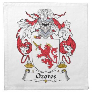 Escudo de la familia de Ozores Servilletas
