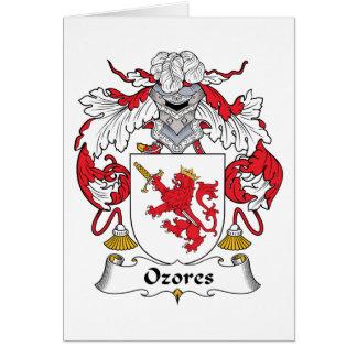 Escudo de la familia de Ozores Tarjetón