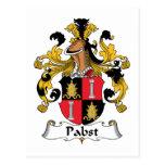 Escudo de la familia de Pabst Postal