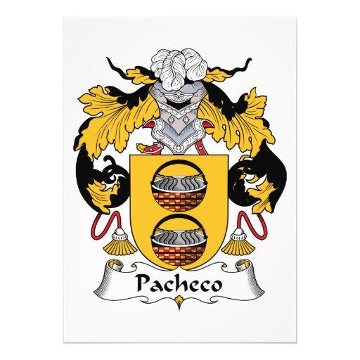 Escudo de la familia de Pacheco Comunicado Personalizado