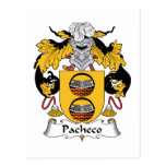 Escudo de la familia de Pacheco Tarjetas Postales