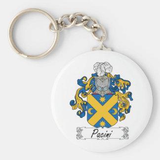 Escudo de la familia de Pacini Llavero Redondo Tipo Pin
