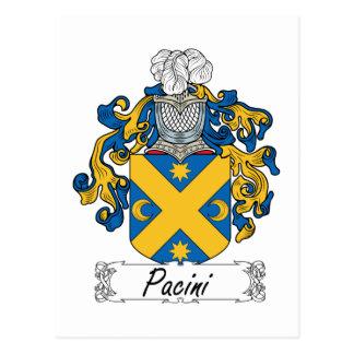 Escudo de la familia de Pacini Tarjeta Postal
