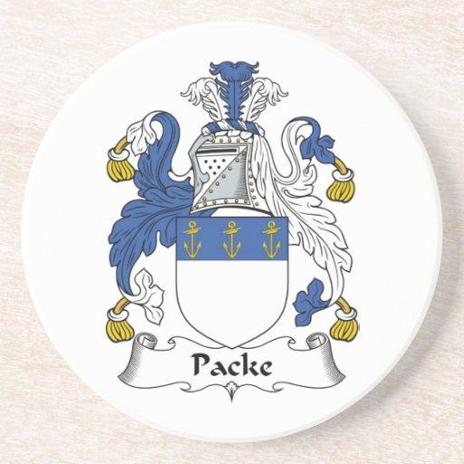 Escudo de la familia de Packe Posavasos Para Bebidas