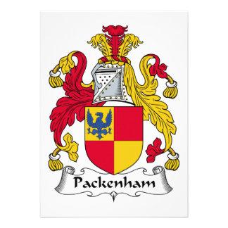 Escudo de la familia de Packenham Invitacion Personal