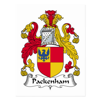 Escudo de la familia de Packenham Tarjeta Postal