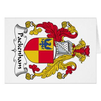 Escudo de la familia de Packenham Tarjetón