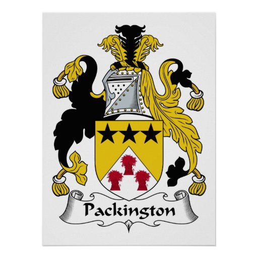 Escudo de la familia de Packington Poster