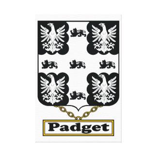 Escudo de la familia de Padget Lienzo Envuelto Para Galerias