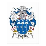 Escudo de la familia de Padilla Postal