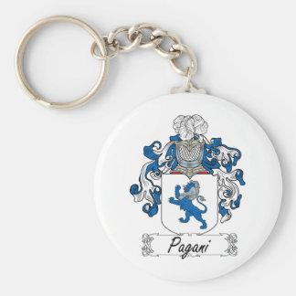 Escudo de la familia de Pagani Llavero Personalizado