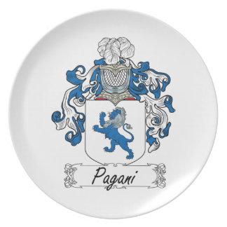 Escudo de la familia de Pagani Plato Para Fiesta