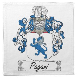 Escudo de la familia de Pagani Servilleta De Papel