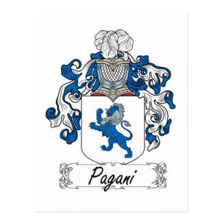 Escudo de la familia de Pagani Tarjeta Postal