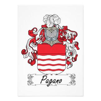 Escudo de la familia de Pagano Invitaciones Personales