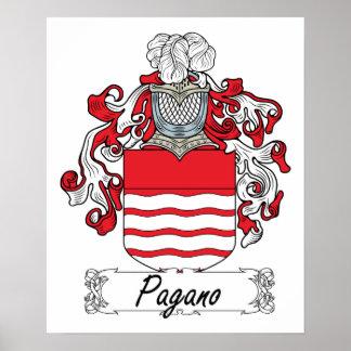 Escudo de la familia de Pagano Impresiones