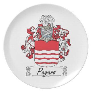 Escudo de la familia de Pagano Platos De Comidas