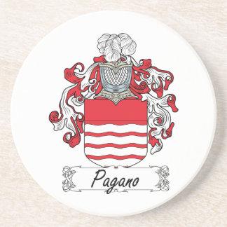 Escudo de la familia de Pagano Posavasos Para Bebidas