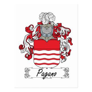 Escudo de la familia de Pagano Tarjeta Postal