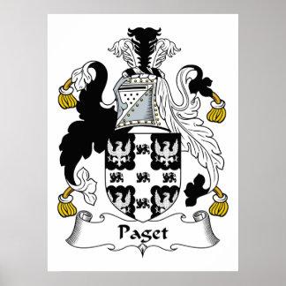 Escudo de la familia de Paget Posters