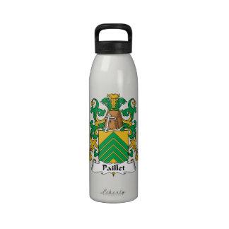 Escudo de la familia de Paillet Botellas De Agua Reutilizables