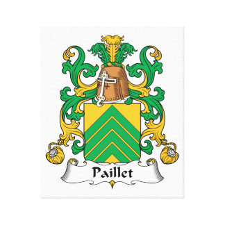 Escudo de la familia de Paillet Lona Envuelta Para Galerias