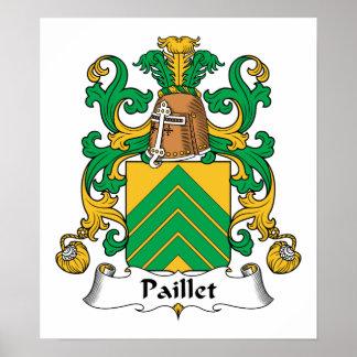 Escudo de la familia de Paillet Poster