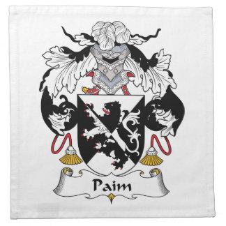 Escudo de la familia de Paim Servilleta Imprimida