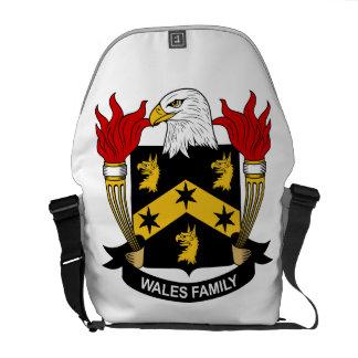 Escudo de la familia de País de Gales Bolsas Messenger