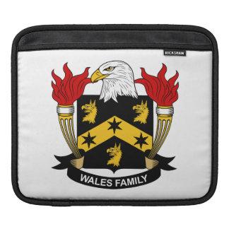 Escudo de la familia de País de Gales Mangas De iPad