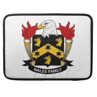 Escudo de la familia de País de Gales Funda Para Macbooks