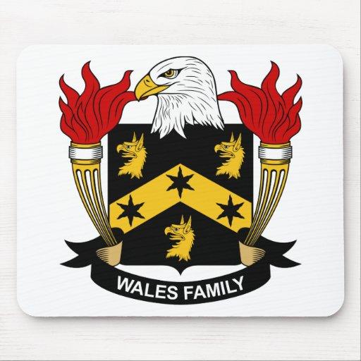 Escudo de la familia de País de Gales Tapete De Ratón