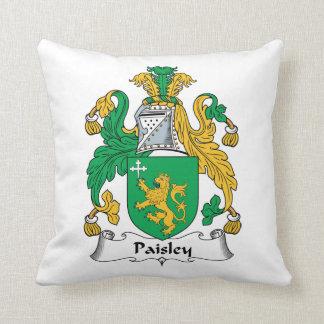 Escudo de la familia de Paisley Cojines