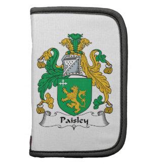 Escudo de la familia de Paisley Organizador