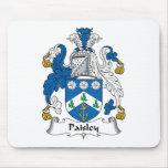 Escudo de la familia de Paisley Alfombrillas De Ratón