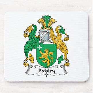 Escudo de la familia de Paisley Alfombrilla De Ratones