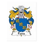 Escudo de la familia de Paiva Postal