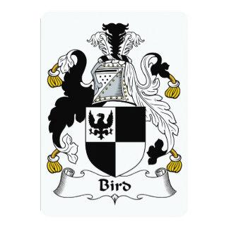 """Escudo de la familia de pájaro invitación 5"""" x 7"""""""