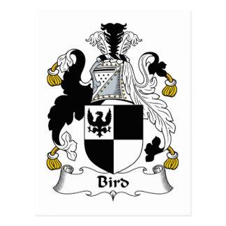 Escudo de la familia de pájaro postal