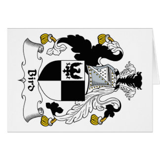 Escudo de la familia de pájaro tarjeta de felicitación