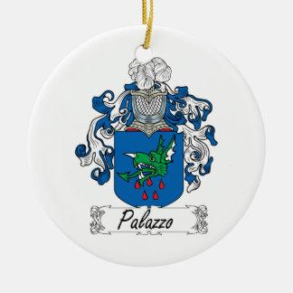 Escudo de la familia de Palazzo Adorno Navideño Redondo De Cerámica
