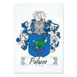 Escudo de la familia de Palazzo Invitación 12,7 X 17,8 Cm