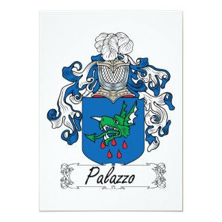 """Escudo de la familia de Palazzo Invitación 5"""" X 7"""""""
