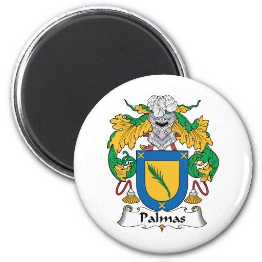 Escudo de la familia de Palmas Imán Redondo 5 Cm