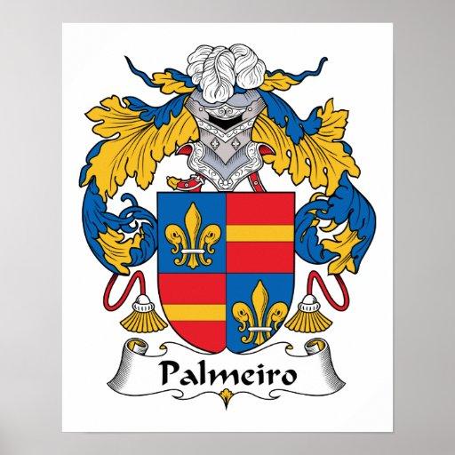 Escudo de la familia de Palmeiro Póster